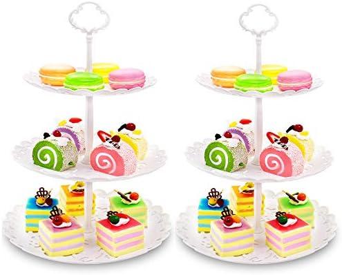 Amazon.com: Imillet - Juego de 2 soportes para tartas y ...