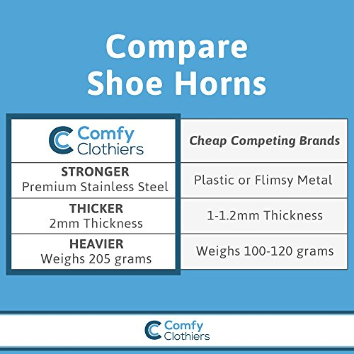 Comfy Clothiers 18-Inch Long Stainless Steel Shoe Horn by Comfy Clothiers (Image #3)