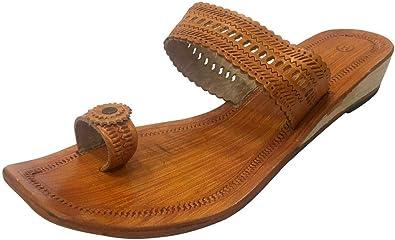 Indian Leather Chappals Kolhapuri