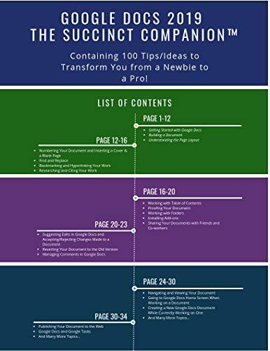 Google Docs 2019: The Succinct CompanionTM (Containing 100 Tips