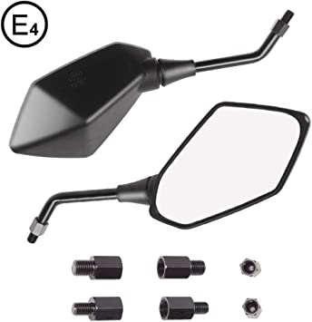 Motorcycle Mirrors Suit Many Suzuki Models With 10mm M10 Thread Pair Black