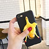 RB-CASE 3D Funny Cute Handmade Soft Sillicone Squeeze Chicken Lay Egg Stress Relieve Soft Silicone Relax Poke Squishy Toys Animals Case for Samsung Galaxy S9 Plus(Egg Black)
