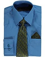 American Exchange Little Boys' Dress Shirt Set