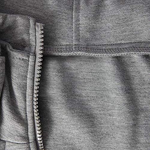 Sweat Sport En À Homme Veste Slim Blouses Manteau Polaire Gris Pull Capuche De Manadlian Fftnq