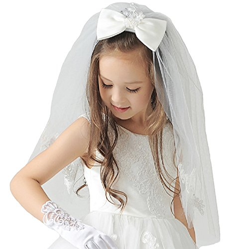 Ivory First Communion Veil - 1