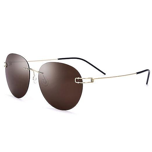 Retro Gafas de sol polarizadas de la personalidad de la forma redonda de los hombres gafas de sol de la protección ULTRAVIOLETA de TR90 TAC para conducir el ...