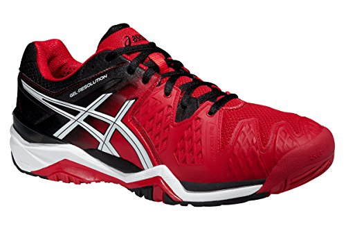 E500Y Red 2390 de Fiery hombre para correr Resolution Gel 6 Asics para White deporte Black Zapatillas Zapatillas pRxOvqO