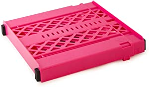 LockerMate Adjust-A-Shelf Locker Shelf, Easy to Use, Extends to Fit Your Locker, Pink
