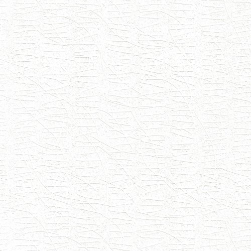 Waffles White Textured Wallpaper For Walls - Double Roll - By Romosa Wallcoverings Backed Vinyl Wallpaper