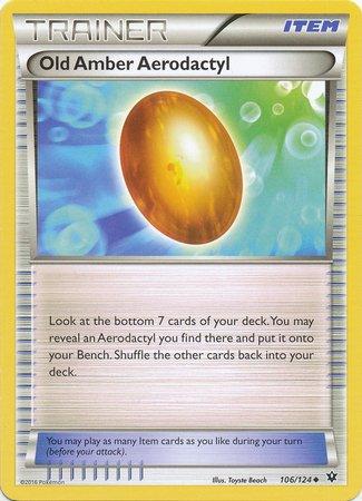 Pokemon - Old Amber Aerodactyl (106/124) - XY Fates Collide (Pokemon Aerodactyl)