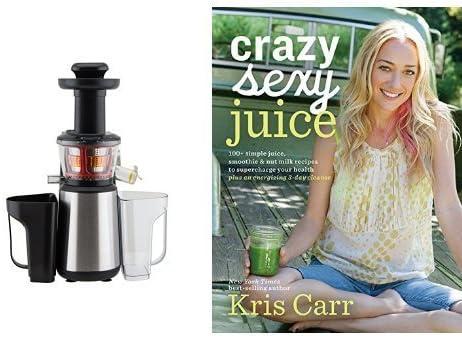 Extractor de jugo con libro de zumos y smoothies (inglés): Amazon ...