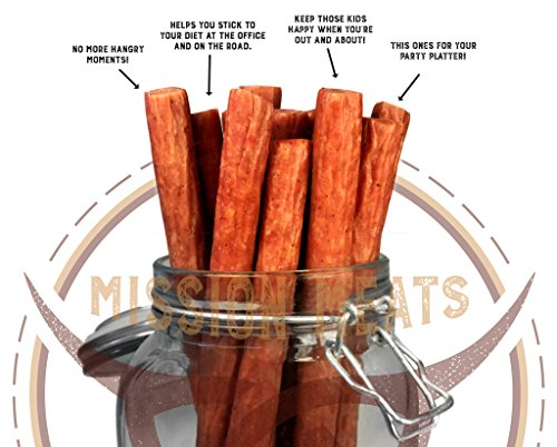 od Smoked Bacon Pork Sticks Antibiotic Free Gluten Free MSG Free Nitrate Nitrite Free All Natural Premium Pork Sticks ()
