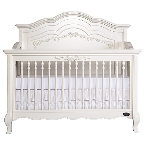 3 Piece Set Headboard (Evolur Aurora 5-in-1 Convertible Crib, Ivory Lace)