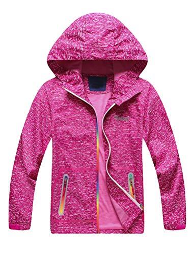Mallimoda Boy's Polar Fleece Hooded Jacket Coat Zipper Sweatshirt Style 3 Pink 9-10 Years