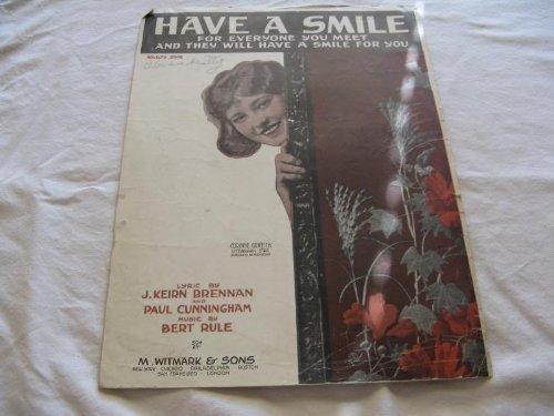 HAVE A SMILE BERT RULE 1918 SHEET MUSIC FOLDER 434 SHEET MUSIC -