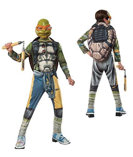 Rubie's Costume Kids Teenage Mutant Ninja Turtles 2 Value Michelangelo Costume, Medium ()