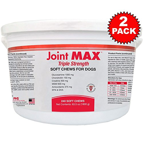 2PACK Joint MAX Triple Strength Soft Chews (480 Chews) by Joint Max