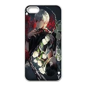 TOKIO GHOUL 16 para el funda iPhone 5 5s funda del teléfono celular de cubierta blanca