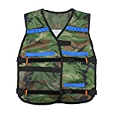 Adjustable Tactical Vest w/ Storage Pockets for Nerf N-Strike Elite Team Toy