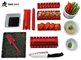 Sushi Making Kit, Tigersushi Next Gen 11 Piece Sushi Set Sushi Rolling Kit, With Sushi Chef Knife & Utensils Making Sushi Rolls Fun and Easy-FDA Approved Making Sushi Rice and Sushi Bazooka Easy