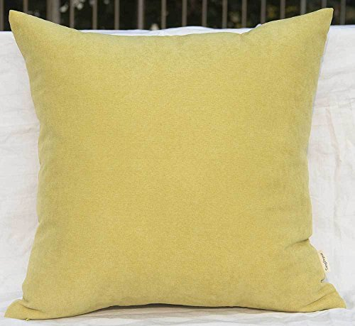 TangDepot Solid Wool-like Throw Pillow Cover/Euro Sham/Cushion Sham, Super Luxury Soft Pillow Cases - Handmade - Many Colors & Sizes Avaliable - (28