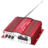 MA-200 480W 4CH Home Car HiFi Digital Stereo Power Amplifier Support SD/USB/FM(Red)
