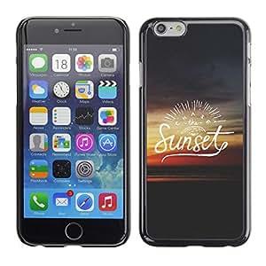 X-ray Impreso colorido protector duro espalda Funda piel de Shell para Apple iPhone 6 Plus(5.5 inches)- Text Summer Quote Dark Red