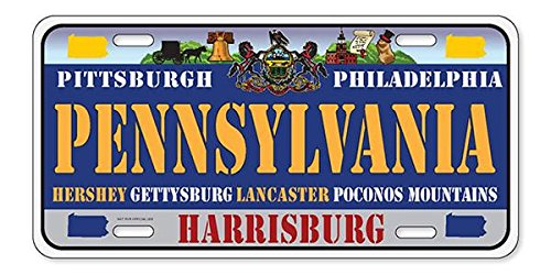 PENNSYLVANIA State License Plate - Flag - (6
