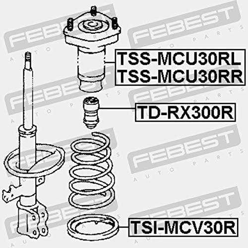 TSS-MCU30RL COUPELLE DAMORTISSEUR ARRI/ÈRE GAUCHE Febest