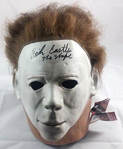 NICK CASTLE SIGNED MICHAEL MYERS HALLOWEEN PROP MASK JSA PROOF J3 (Halloween Movie Props)
