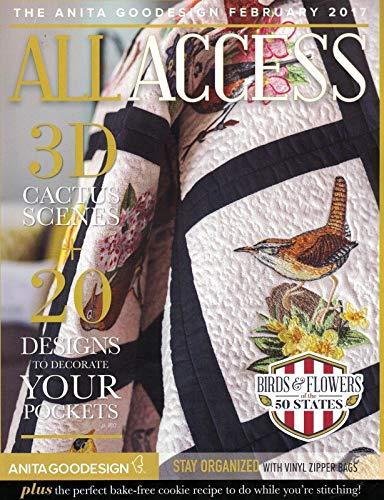 Anita Goodesign All Access VIP Club Embroidery Designs CD & Book February 2017