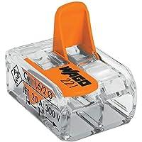 Conector Automático Bipolar 221-412 Transparente 6 Peças Wago