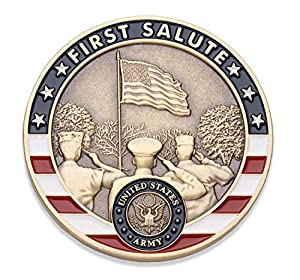 Army First Salute Challenge Coin - United States Army Challenge Coin - Amazing US Army Military Coin - Designed by Military Veterans! from Coins For Anything Inc