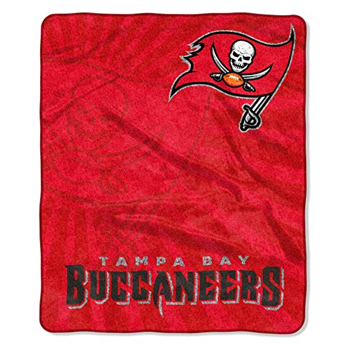 Tampa Bay Buccaneers Blanket - The Northwest Company Officially Licensed NFL Tampa Bay Buccaneers Strobe Sherpa on Sherpa Throw Blanket, 50