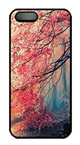 Japanese Red Forest Protective Hard Plastic Back Fits Cover Case For HTC One M8 Cover -1122067