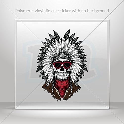 Decals Decal Cool Indian Skull With Sunglasses Tablet Laptop Weatherp (5 X 3.55 - Sunglasses Website Cool