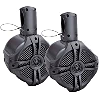 POWER ACOUSTIK MWT-80T Marine-Grade 8 750-Watt Wake Tower Enclosure & Speaker System (Titanium)