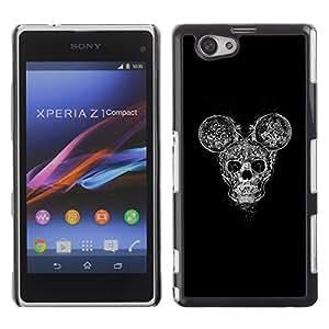 Be Good Phone Accessory // Dura Cáscara cubierta Protectora Caso Carcasa Funda de Protección para Sony Xperia Z1 Compact D5503 // Mouse Cartoon Scull Heavy Metal Band