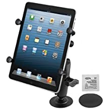 """RAM 1"""""""" Diameter Ball Mount with 2.5"""""""" Flex Adhesive Base and Universal X-Grip(TM) II Holder for Small Tablets"""