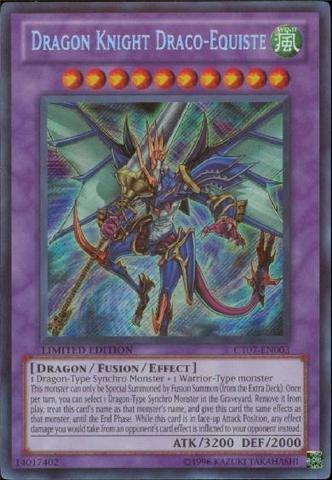 Yu-Gi-Oh! - Dragon Knight Draco-Equiste (CT07-EN003) - 2010 Collectors Tin - Limited Edition - Secret (Dragon Knight)