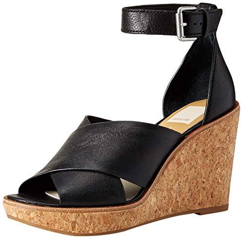 - Dolce Vita Women's Urbane Wedge Sandal, Black Leather, 10 M US