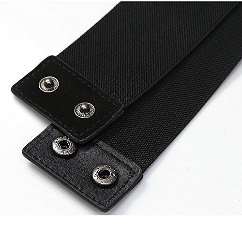 Black Crystal Bead Women Waist Belts Rhinestone Elastic Dress Corset Belt
