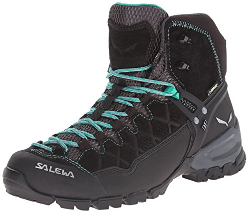 Boot Gtx Backpacking Mid (Salewa Women's Alp Trainer Mid GTX Alpine Trekking Boot, Black Out/Agata, 8.5 B(M) US)