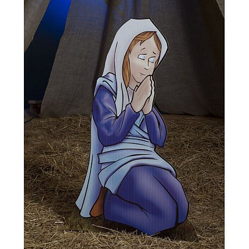Mary Nativity Standee Standup Photo Booth Prop Background Backdrop Party Decoration Decor Scene Setter Cardboard Cutout -