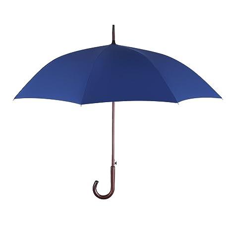 Plemo Paraguas Largo Recubierto de Teflón con Mango de Madera Real, Anti-UV Diseño