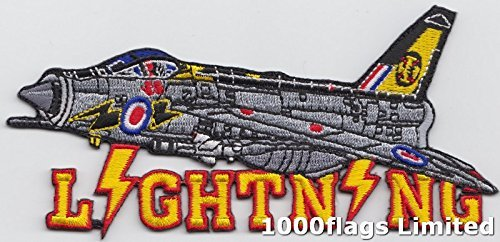 Royal Air Force RAF English Electric Lighting Jet Fighter Cut Out Embroidered Badge Patch ()