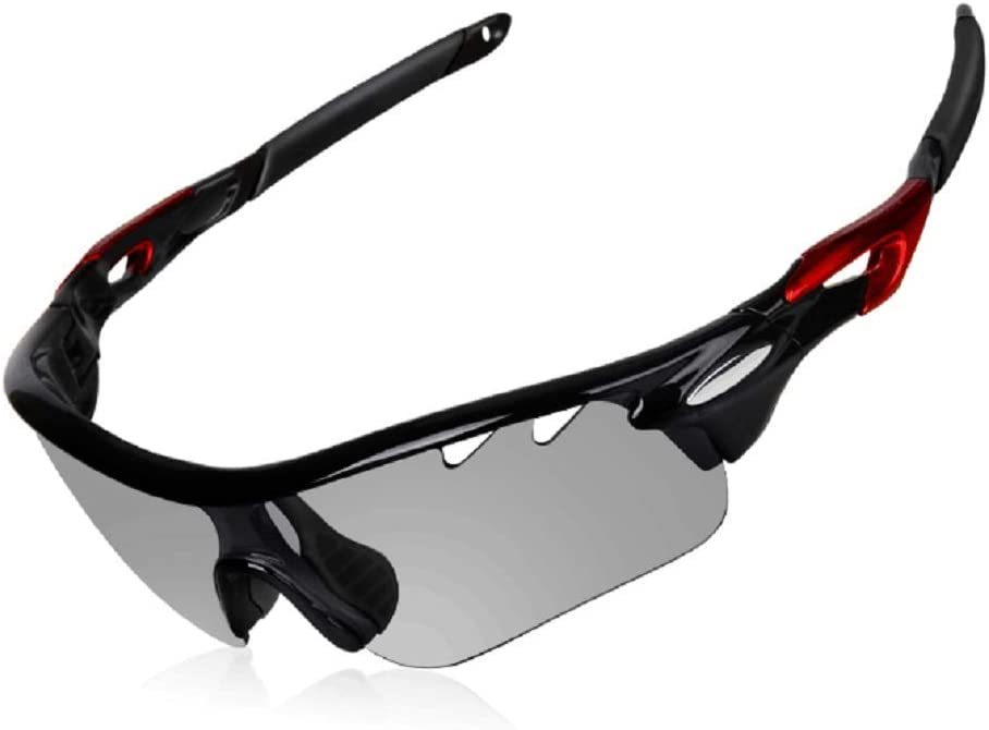 DEKINMAX Gafas Ciclismo Protección UV Gafas de Sol Ligeras con Gafas Correa para Deportes BTT Moto Pesca Playa Golf Senderismo (Gris Claro): Amazon.es: Deportes y aire libre