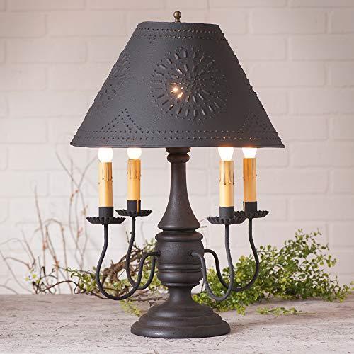Jamestown Lamp in Hartford Black with Shade -
