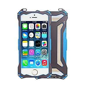 Moon Monkey Premium Ornate Armor Outdoor Sport Phone Protective Device Hard Case for Iphone 5 5s (MM424) (Blue)