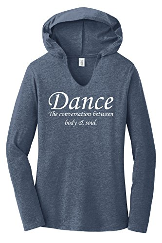 Dance T-shirt Sweatshirt (Comical Shirt Ladies Hoodie Shirt Dance The Conversation Between Body and Soul Navy Frost M)